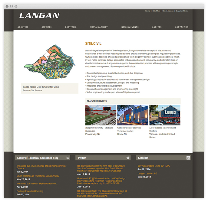 Top Engineering Firm Websites By Fine Design For Langan Engineering
