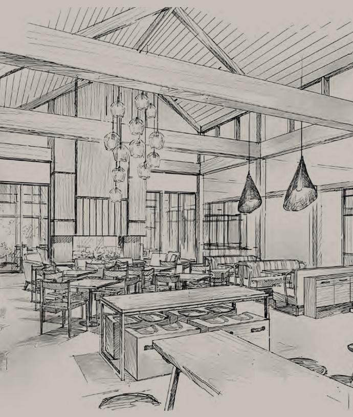 Headlands Dining Room Sketch