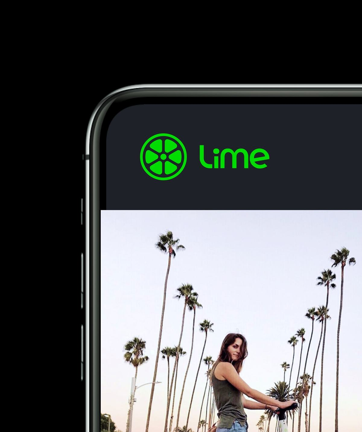 Website design for mobility startup Lime