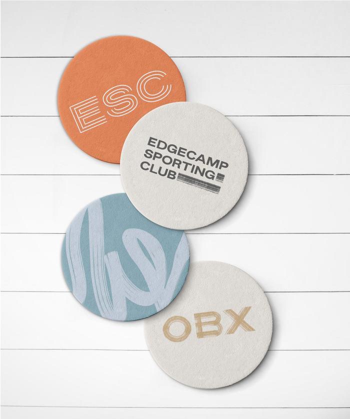 ESC branded coasters