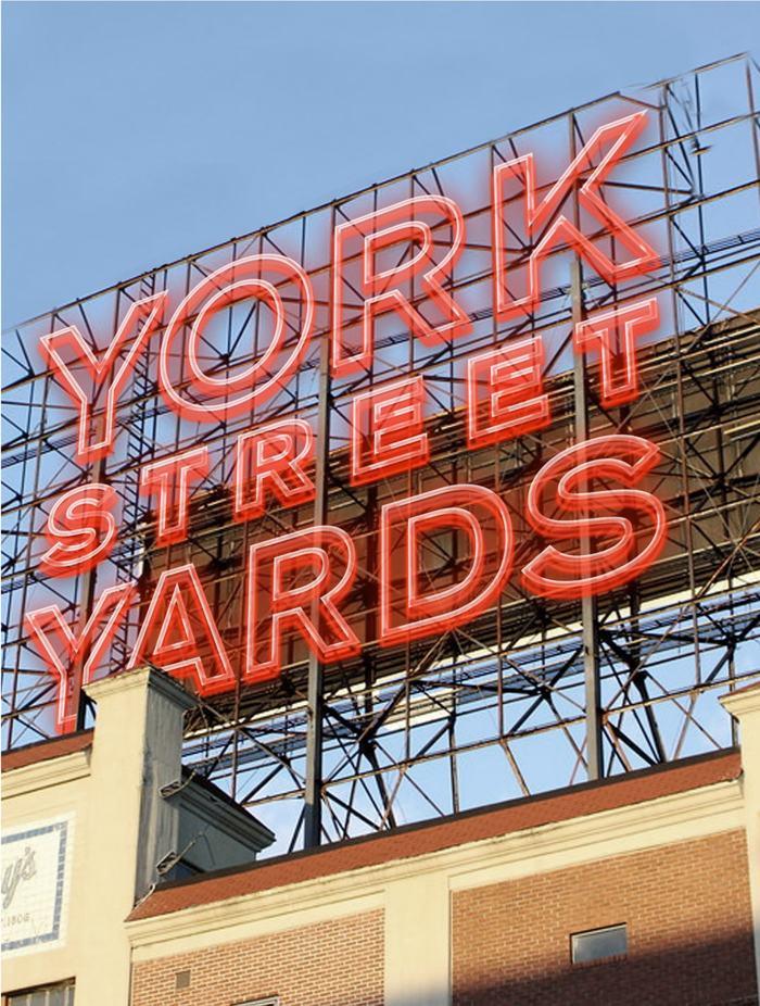 York Street Yards neon signage