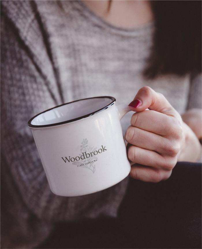 Woodbrook metal mug
