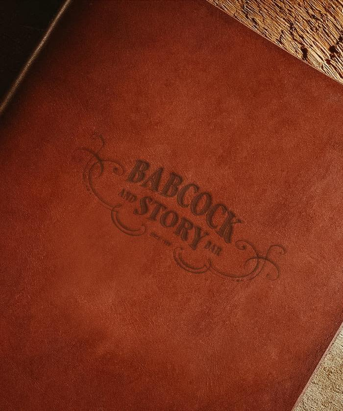 Babcock & Story Leather Menu