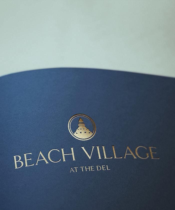 Beach Village Gold Foil Logo